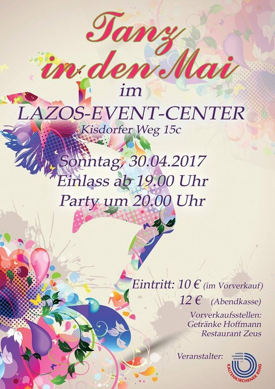 Tanz in den Mai am 30. April 2017 im Lazos-Event-Center