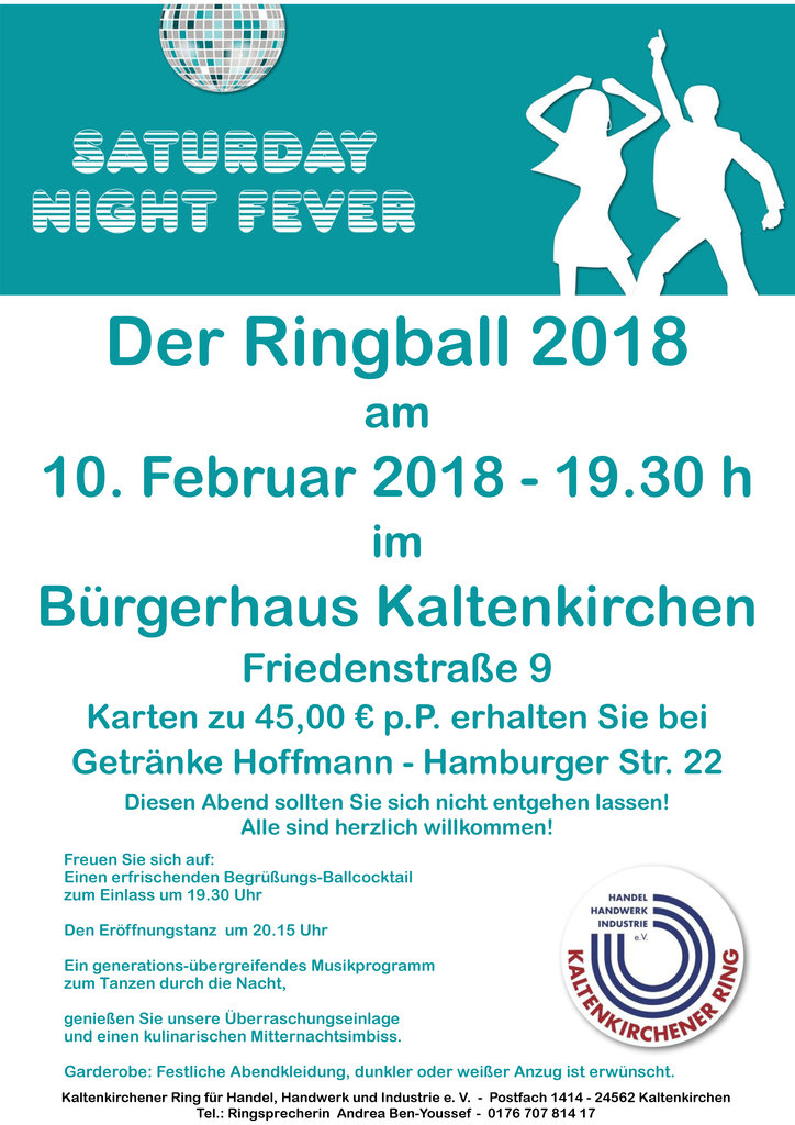 Ringball 2018 - Saturday night fever