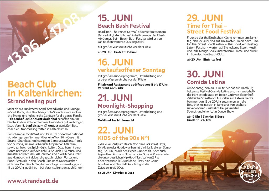 Beach-Club-Programm 2019